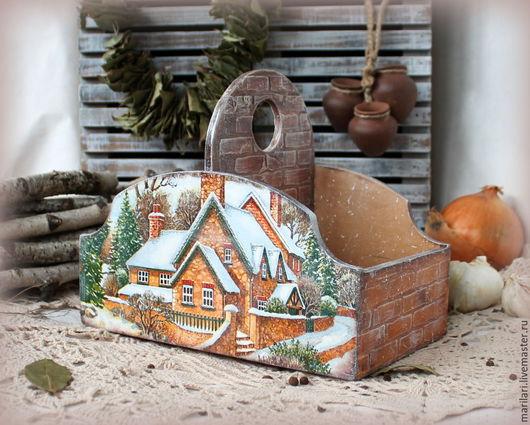 """Кухня ручной работы. Ярмарка Мастеров - ручная работа. Купить Короб """"Милый дом"""". Handmade. Короб с домиком, короб для хранения"""