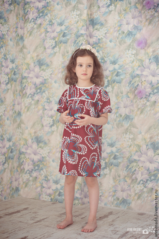 Одежда для девочек, ручной работы. Ярмарка Мастеров - ручная работа. Купить Платье (Арт.: Д-1d). Handmade. Цветочный