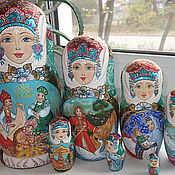 "Сувениры и подарки handmade. Livemaster - original item Matryoshka ""the Tale about Tsar Saltan"" 7 seats. Handmade."