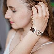 handmade. Livemaster - original item Brown Bracelet with Jasper. Handmade.