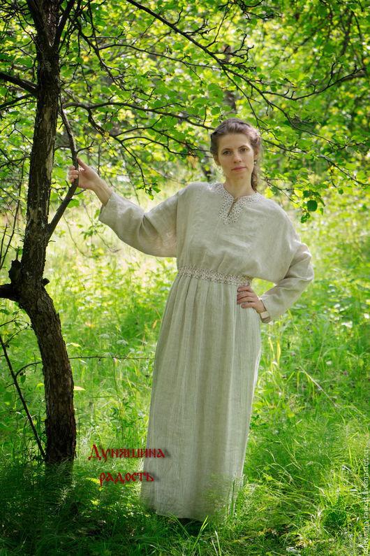 """Одежда ручной работы. Ярмарка Мастеров - ручная работа. Купить """"Льняная Свежесть"""". Handmade. Платье льняная свжесть, натуральные цвета"""