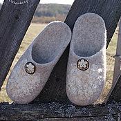 """Обувь ручной работы. Ярмарка Мастеров - ручная работа Тапочки """"Безмятежность"""" из серии """"Деревенская пастораль"""". Handmade."""