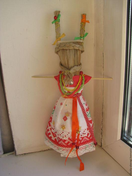 """Народные куклы ручной работы. Ярмарка Мастеров - ручная работа. Купить Оберег """"Коза"""". Handmade. Оберег на достаток, лыко, бисер"""