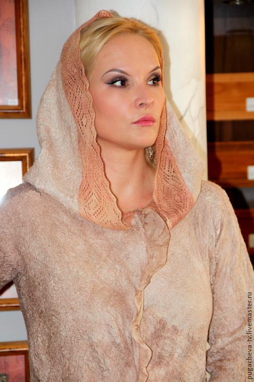"""Пиджаки, жакеты ручной работы. Ярмарка Мастеров - ручная работа. Купить Жакет """" Мадонна"""" Войлок. Handmade. Кремовый"""
