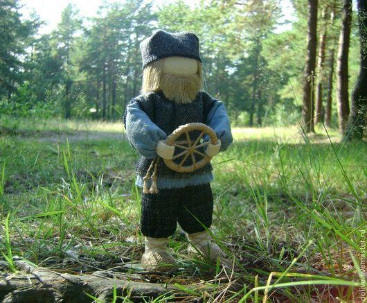 """Народные куклы ручной работы. Ярмарка Мастеров - ручная работа. Купить кукла """"Спиридон-Солнцеворот"""". Handmade. Синий, подарок мужчине"""