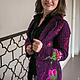 """Пиджаки, жакеты ручной работы. Жакет """"Фиолет"""". Интересная вещица. Ярмарка Мастеров. Жакет, жакет нарядный, вязание на заказ"""