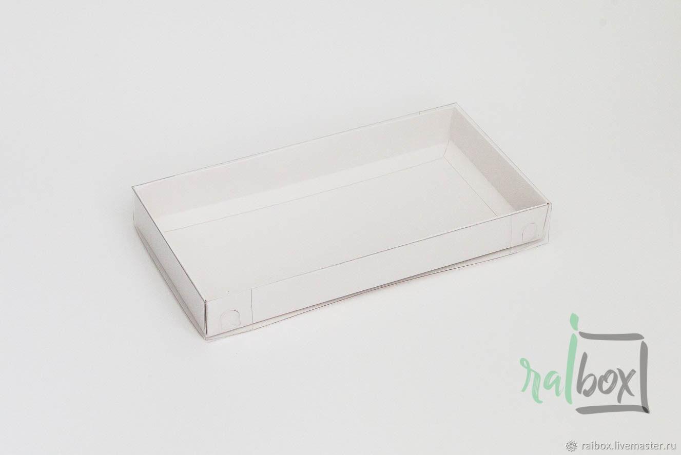 Коробка 12х24х3 белая  с прозрачной крышкой 12х24х3, Упаковка, Волжский, Фото №1