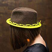 "Шляпы ручной работы. Ярмарка Мастеров - ручная работа Шляпа ""Федора-лайм"". Handmade."