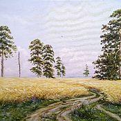 Картины и панно handmade. Livemaster - original item Oil painting Rye. Free copy And. Shishkin. Handmade.