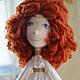 Коллекционные куклы ручной работы. Текстильная кукла. 'Настроение в горошек' (ViktoriaSP). Интернет-магазин Ярмарка Мастеров. Интерьерная кукла, бисер