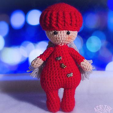 Куклы и игрушки ручной работы. Ярмарка Мастеров - ручная работа Вязаная игрушка: Куколка Лена. Handmade.