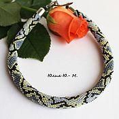 Украшения handmade. Livemaster - original item Harness beaded Snake, decoration, necklace, imitation snake skin. Handmade.