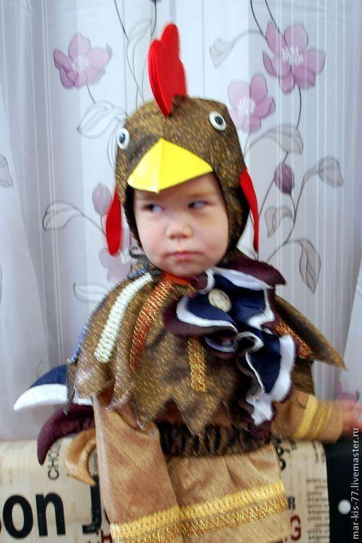 Детские карнавальные костюмы ручной работы. Ярмарка Мастеров - ручная работа. Купить Петушок. Handmade. Однотонный, утренник