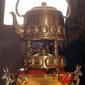 Винтаж ручной работы. Ярмарка Мастеров - ручная работа Бульотка Ana центр стола с компл. бронзовых подстаканников Jugendstil. Handmade.