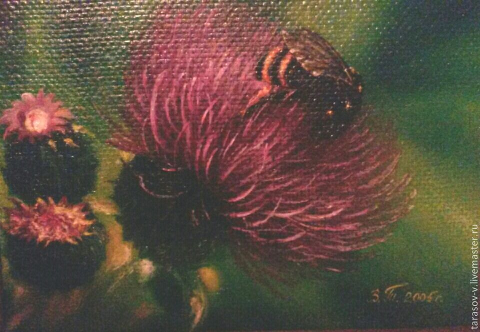 Oil painting the Shaggy bumblebee, Pictures, Moscow,  Фото №1
