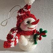 Подарки к праздникам ручной работы. Ярмарка Мастеров - ручная работа Снеговик - новогодняя игрушка. Handmade.