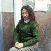 """Одежда ручной работы. Ярмарка Мастеров - ручная работа Свитер вязаный """"Зелень"""". Handmade."""