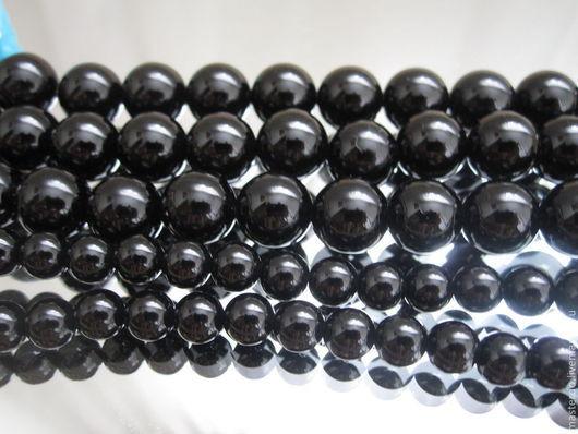 Для украшений ручной работы. Ярмарка Мастеров - ручная работа. Купить Агат черный бусины 6, 8, 10, 12 мм. Handmade.