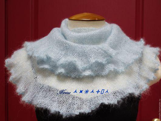 Шарфы и шарфики ручной работы. Ярмарка Мастеров - ручная работа. Купить Шейный платок из мохера на шелке. Handmade. Шейный платок