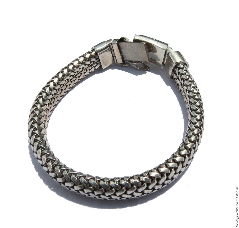 картинки мужских браслетов из серебра противовес