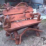 Для дома и интерьера handmade. Livemaster - original item Chair garden bench made of pine and driftwood. Handmade.