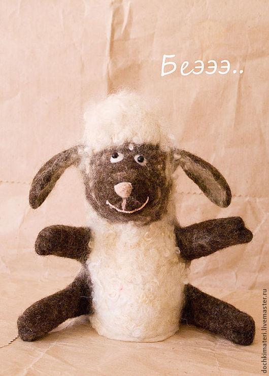 """Кукольный театр ручной работы. Ярмарка Мастеров - ручная работа. Купить Игрушка БИБАБО """"Овечка"""". Handmade. Белый, овца"""