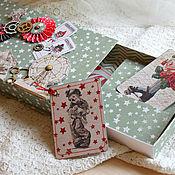 """Открытки ручной работы. Ярмарка Мастеров - ручная работа Подарочная коробочка """"Билеты в цирк"""" (семейный подарок). Handmade."""