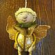 """Миниатюрные модели ручной работы. игрушка -сувенир """"Летающий человечек"""". Ариша. Ярмарка Мастеров. Человечек, фантазийная пряжа, тесьма декоративная"""