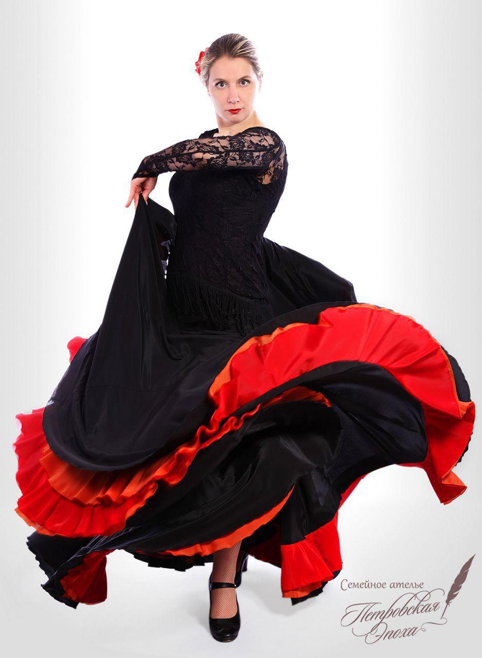 Из чего сшить юбку для фламенко