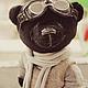 Мишки Тедди ручной работы. тихон-авиатор. авторский мишка тедди. МАСТЕРСКАЯ СОВА. TEDDY-BEAR ART. Интернет-магазин Ярмарка Мастеров.