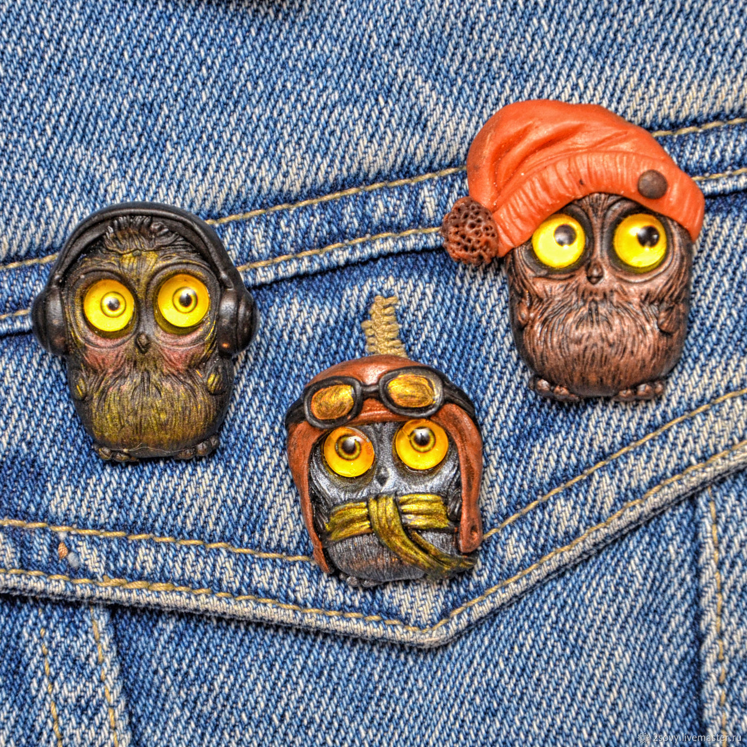 Brooches Owls in stock, Brooches, Moscow,  Фото №1