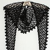 Аксессуары handmade. Livemaster - original item Black Bacchus ( neckerchief) from Merino wool.Starry night.. Handmade.