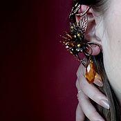 Украшения handmade. Livemaster - original item Cuff earring stud SUN GLARE. Handmade.