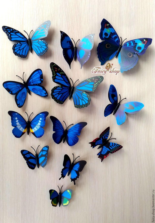 Butterflies for interior decoration