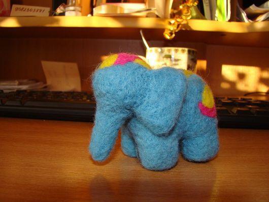 Игрушки животные, ручной работы. Ярмарка Мастеров - ручная работа. Купить Валяный синий слоник. Handmade. Слоник, валяние из шерсти