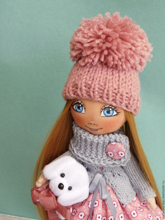Куклы тыквоголовки ручной работы. Ярмарка Мастеров - ручная работа. Купить Куколка Настя. Handmade. Бежевый, в подарок, кукла текстильная