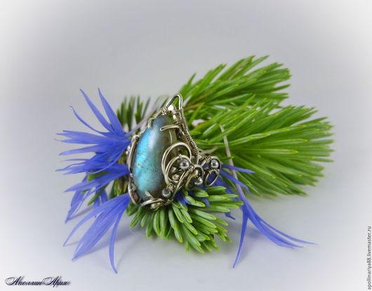"""Кольца ручной работы. Ярмарка Мастеров - ручная работа. Купить Кольцо """"Северное сияние"""". Handmade. Голубой, изящное кольцо"""
