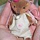 Мишки Тедди ручной работы. Ярмарка Мастеров - ручная работа. Купить Малышок в ладошку Мишутка Машенька. Handmade. Тедди, коричневый
