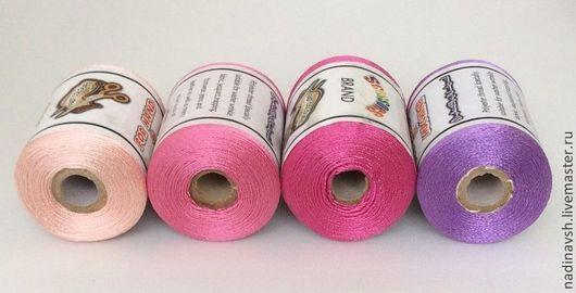 Вышивка ручной работы. Ярмарка Мастеров - ручная работа. Купить Нитки. Handmade. Нитки, вышивка, розовый, шёлк искусственный