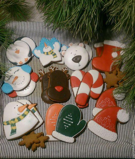 Кулинарные сувениры ручной работы. Ярмарка Мастеров - ручная работа. Купить Ароматные сувениры (имбирныепряники). Handmade. Комбинированный, пряничные игрушки