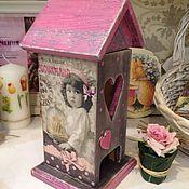Для дома и интерьера ручной работы. Ярмарка Мастеров - ручная работа Чайный домик из массива сосны Французские вкусняшки. Handmade.