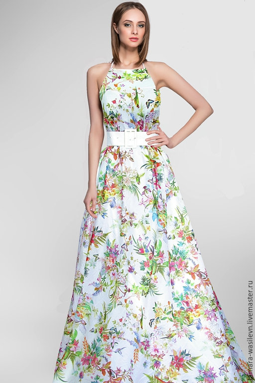 """Шитье ручной работы. Ярмарка Мастеров - ручная работа. Купить Батист Blumarine """"Райский сад"""". Handmade. Платье, нарядный сарафан"""