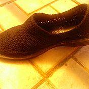 Обувь ручной работы. Ярмарка Мастеров - ручная работа Слипоны мужские BLACK. Handmade.