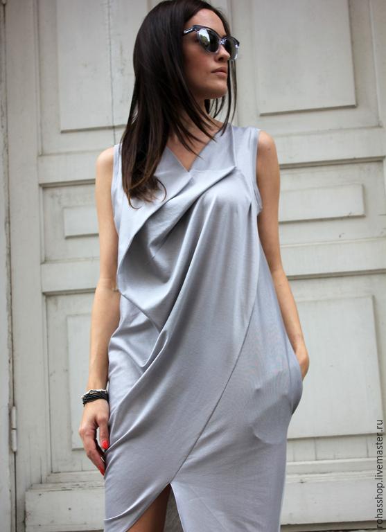 R0031A Стильное платье модное платье платье без рукавов дизайнерское платье серое платье платья платье коктейльное вечернее платье платье короткое летнее ассиметрчное платье красивое платье на выход