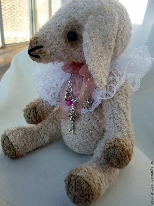 Мишки Тедди ручной работы. Ярмарка Мастеров - ручная работа. Купить Козочка. Handmade. Бежевый, козочка, подарок, шерсть, кружево