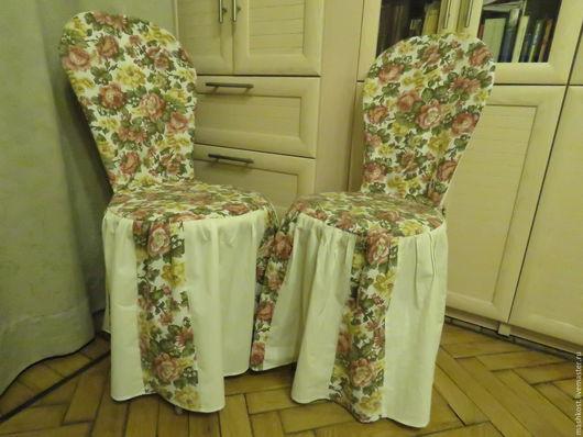 Текстиль, ковры ручной работы. Ярмарка Мастеров - ручная работа. Купить чехол для стула. Handmade. Комбинированный, для дачи, хлопок 100%