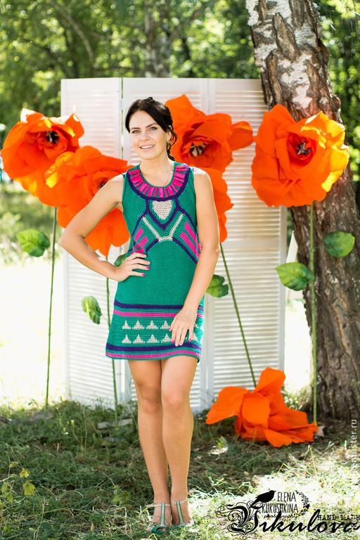 Платья ручной работы. Ярмарка Мастеров - ручная работа. Купить Платье Fruittella. Handmade. Абстрактный, платье летнее