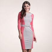 Одежда ручной работы. Ярмарка Мастеров - ручная работа 035: платье футляр из джерси, офисное платье, повседневное платье. Handmade.
