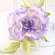 """Броши ручной работы. Роза """"Profumo di lilla"""". Натуральный шелк.. 'Poli-Flower'   (Надежда). Ярмарка Мастеров. Роза из шелка"""