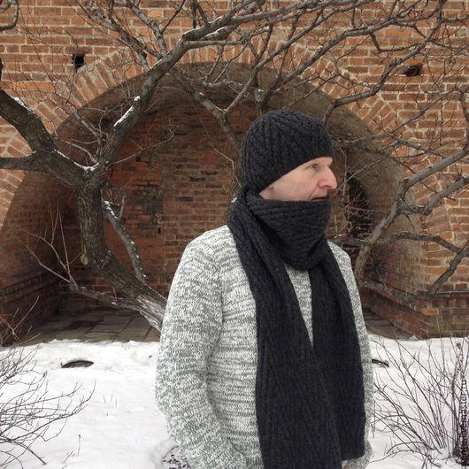 Комплекты аксессуаров ручной работы. Ярмарка Мастеров - ручная работа. Купить Комплект вязаный Dot, шапка+шарф. Handmade. Комплект вязаный